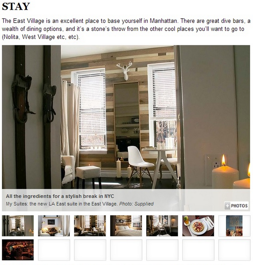MySuites NYC featured in Australia's Sydney Morning Herald!