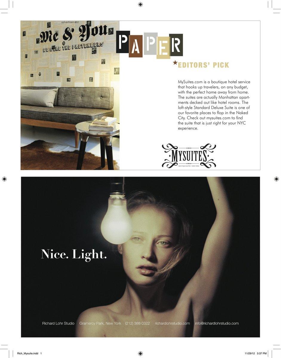 PAPER MAGAZINE_MySuites Dec2012